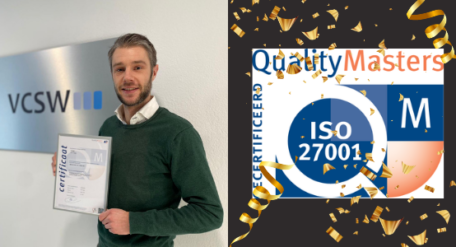 VCSW behaalt ISO-27001 certificering